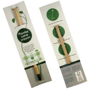 Crayon à Planter Sprout personnalisé avec sticker - Petite Plante