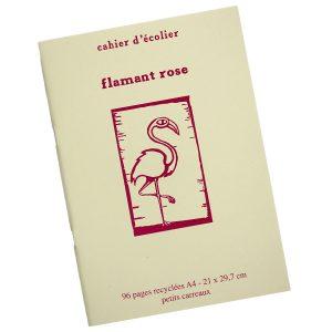 Cahier d'Écolier Flamant Rose - Petite Plante