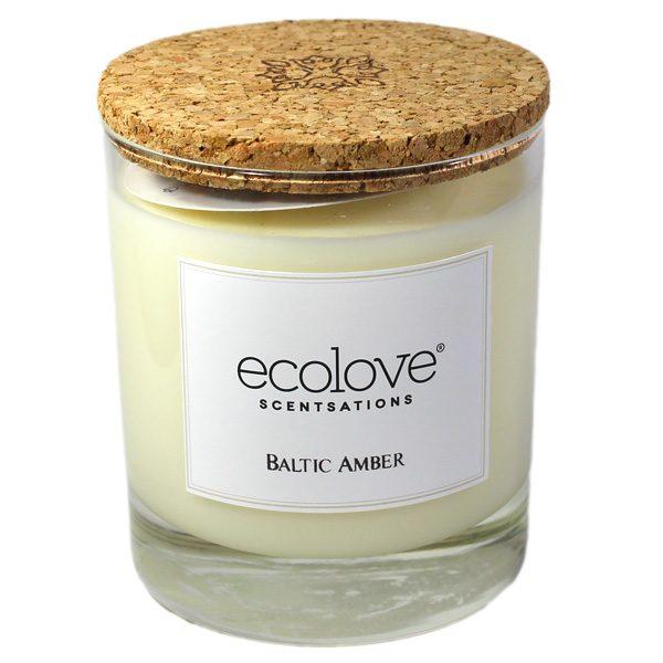 Ecolove Bougie Aromatique Ambre Baltique - Petite Plante