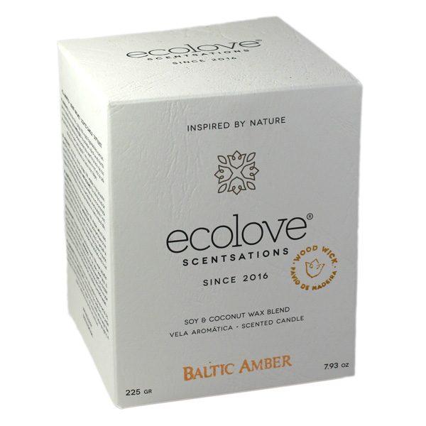 Ecolove Bougie Aromatique Ambre Baltique - Petite Plante - 2