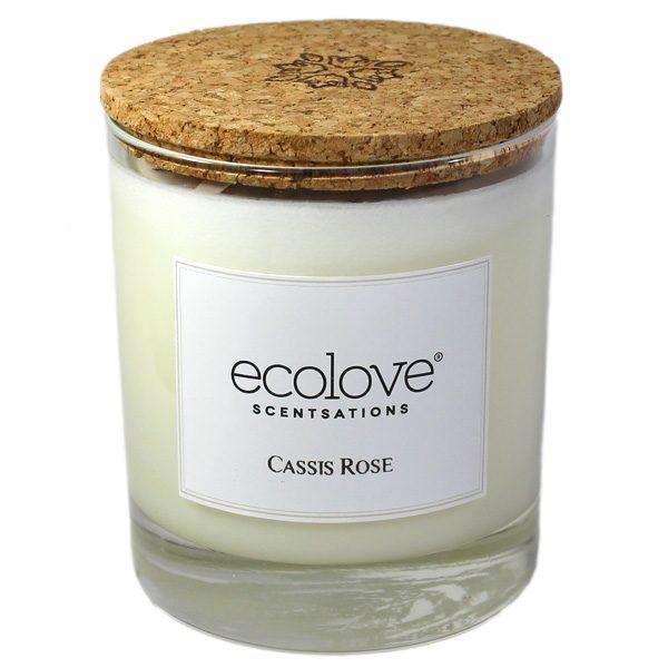 Ecolove Bougie Aromatique Cassis Rose - Petite Plante