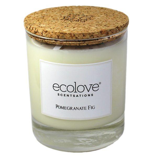 Ecolove Bougie Aromatique Grenade Figue - Petite Plante