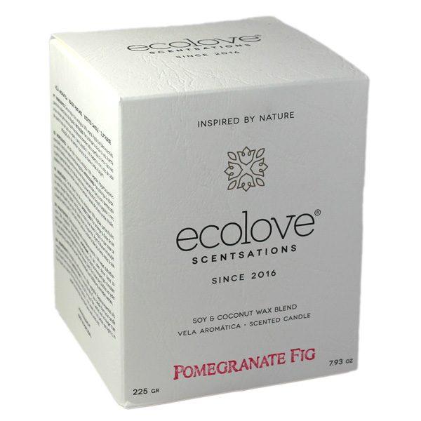 Ecolove Bougie Aromatique Grenade Figue - Petite Plante - 2