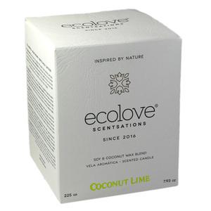 Ecolove Bougie Aromatique Noix de Coco Citron Vert - Petite Plante - 2