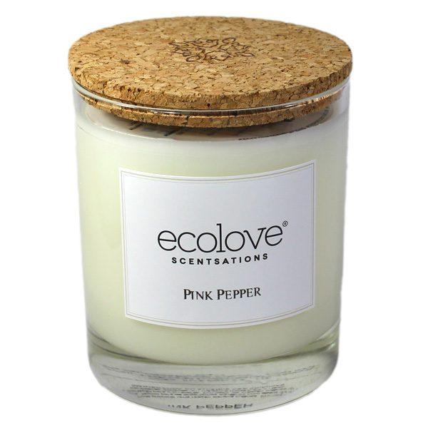 Ecolove Bougie Aromatique Poivre Rose - Petite Plante