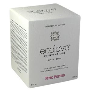 Ecolove Bougie Aromatique Poivre Rose - Petite Plante - 2