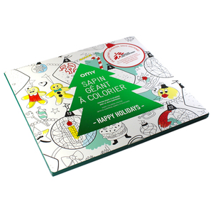 Sapin Géant à Colorier - Happy Holidays - Petite Plante