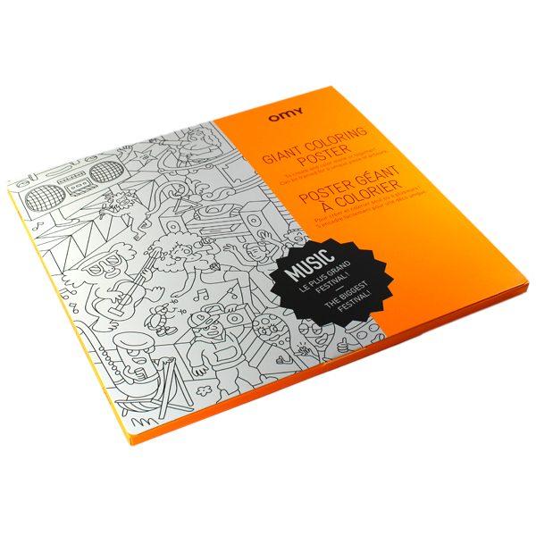 Poster Géant à Colorier - Music - Petite Plante